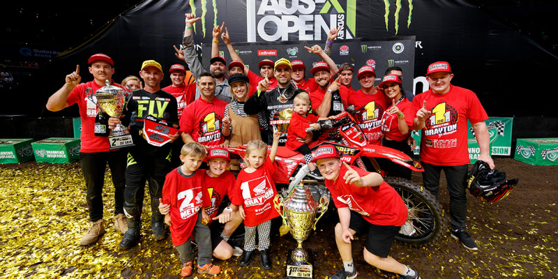 Penrite Honda Goes 1 and 2 in 2018 AUS SX Championship