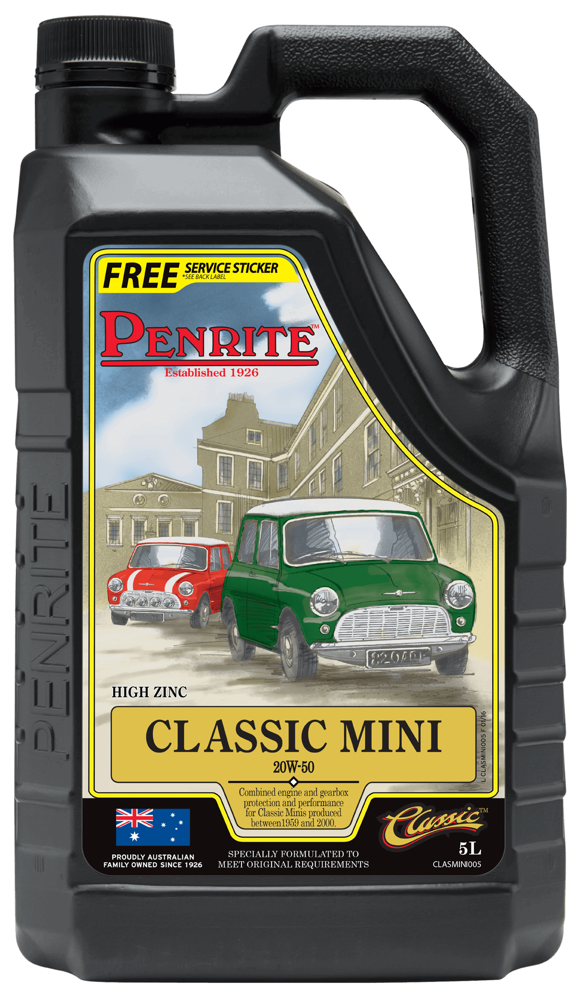 CLASSIC MINI 20W-50 (Mineral) | Penrite Oil