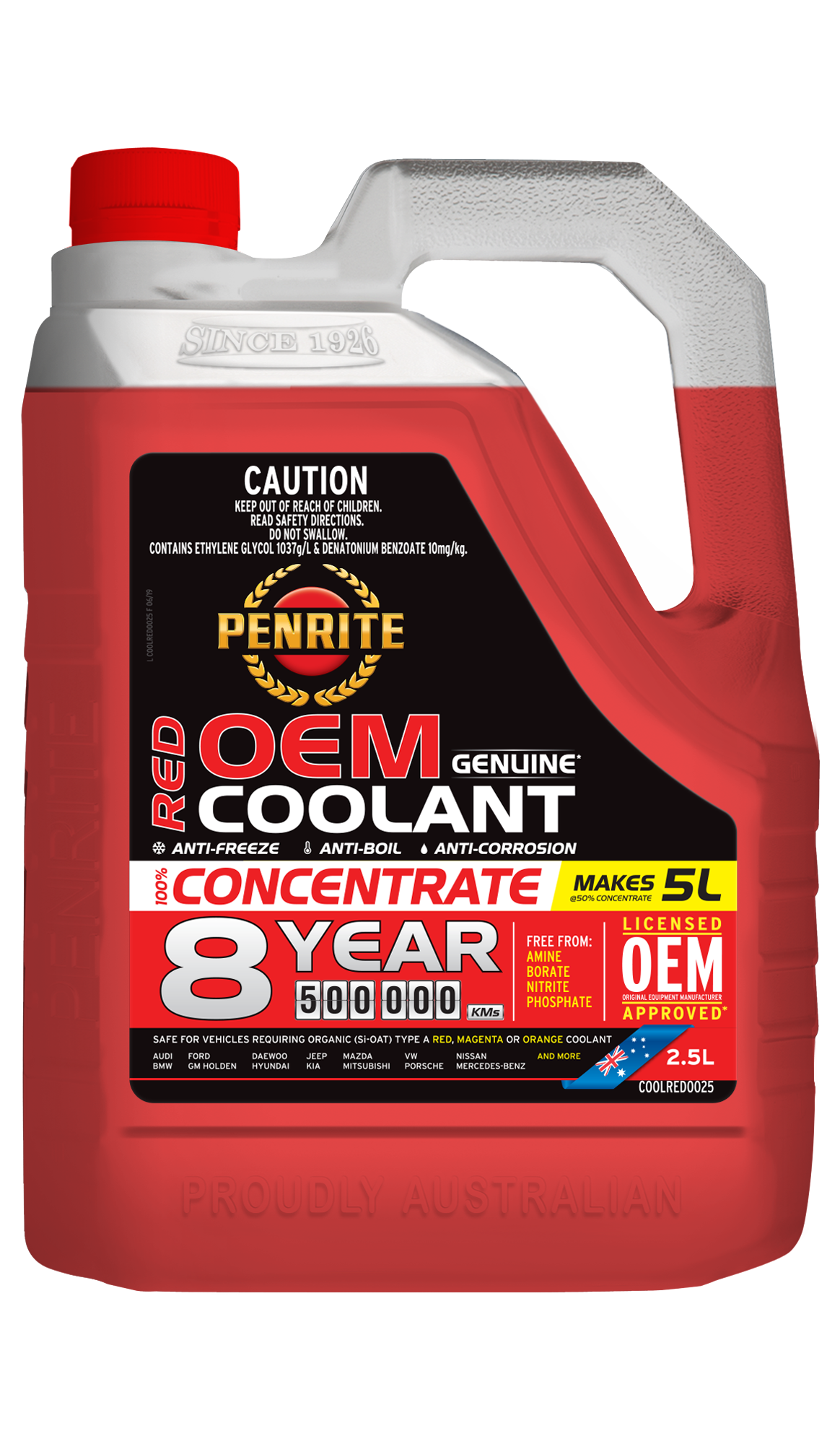 8 YEAR 500,000KM RED CONCENTRATE | Penrite Oil