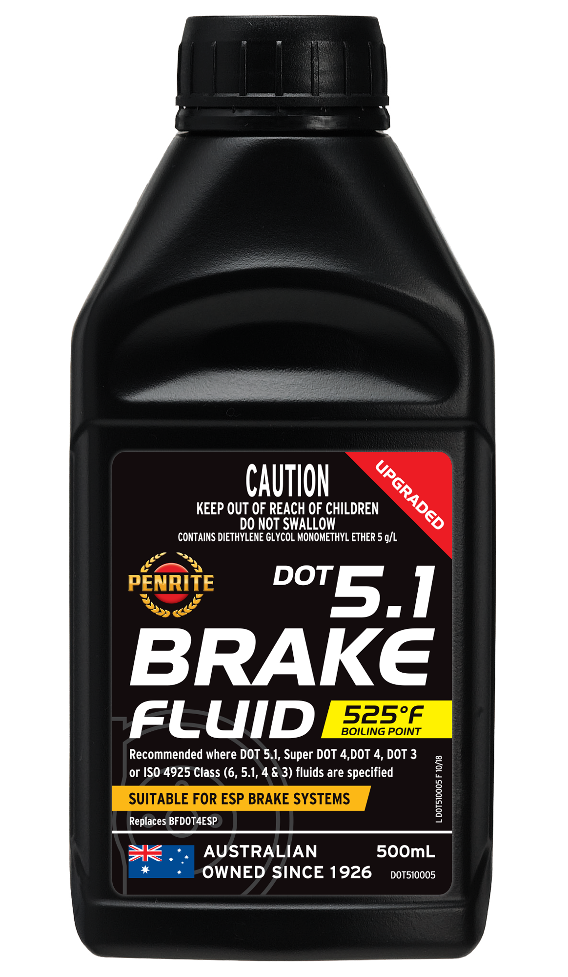 Dot 5 1 Brake Fluid >> Dot 5 1 Brake Fluid Penrite Oil
