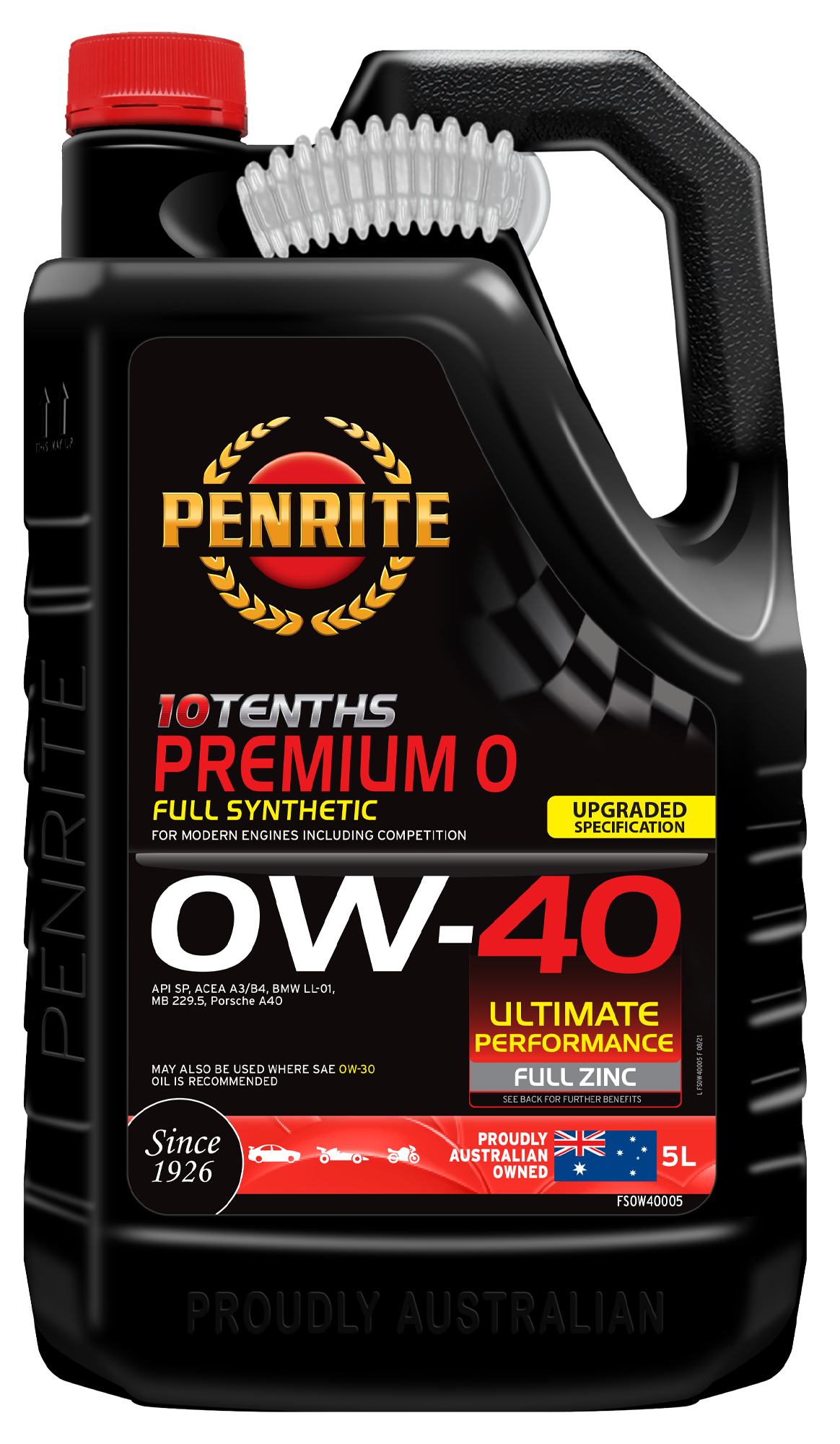 Bmw Recommended Oil >> 10 Tenths Premium 0w 40 Full Synthetic Penrite Oil
