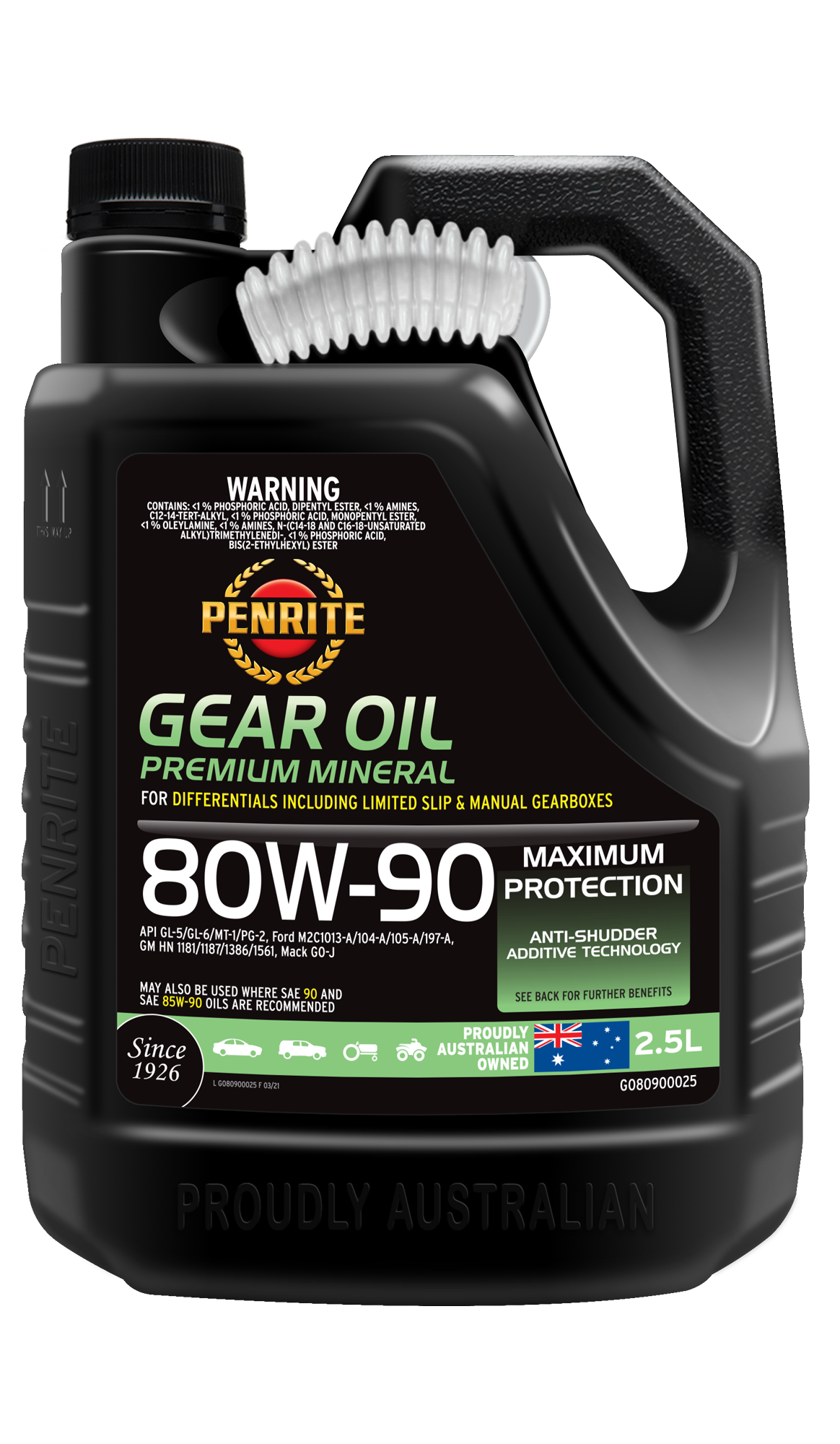 GEAR OIL 80W-90 (Mineral) | Penrite Oil