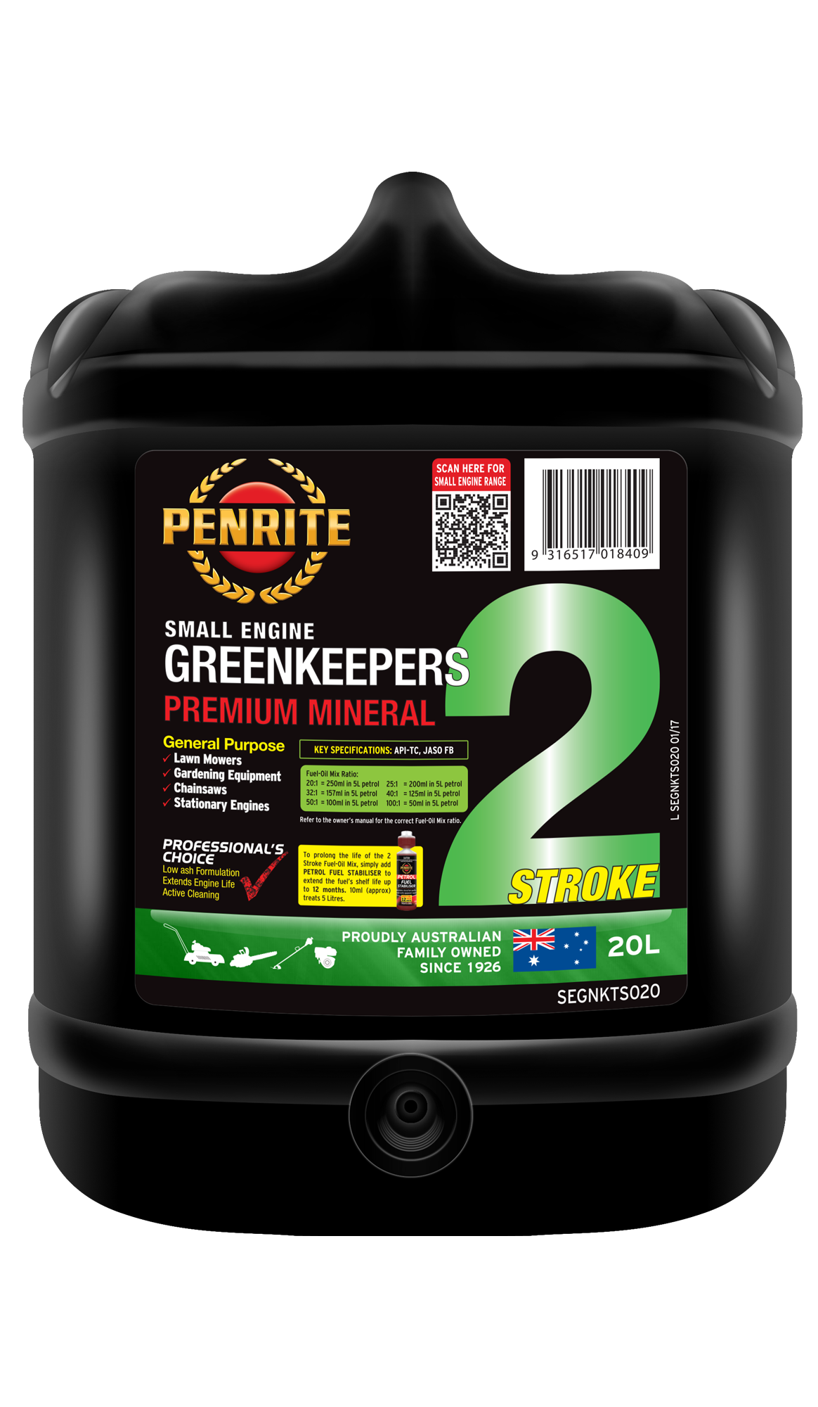 GREENKEEPERS 2 STROKE OIL (Mineral) | Penrite Oil