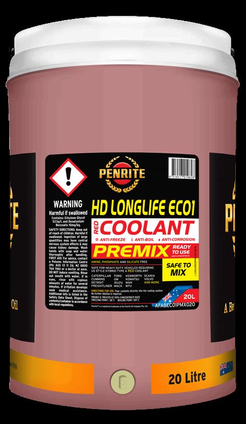 Penrite Oil- HD LONGLIFE EC01 PREMIX  - Anti-freeze & Coolants