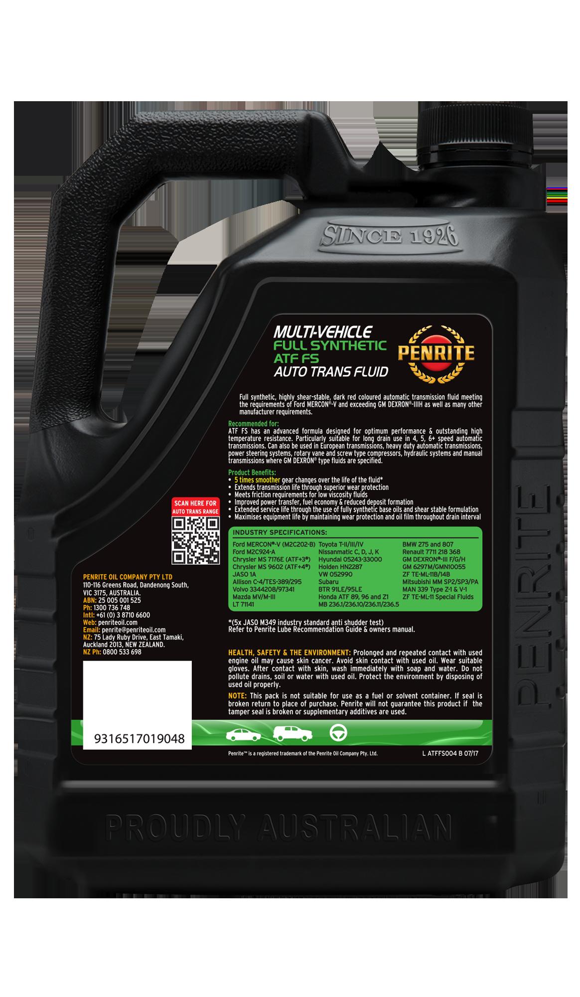 Penrite Oil - ATF FS (Full Syn.) - 4L