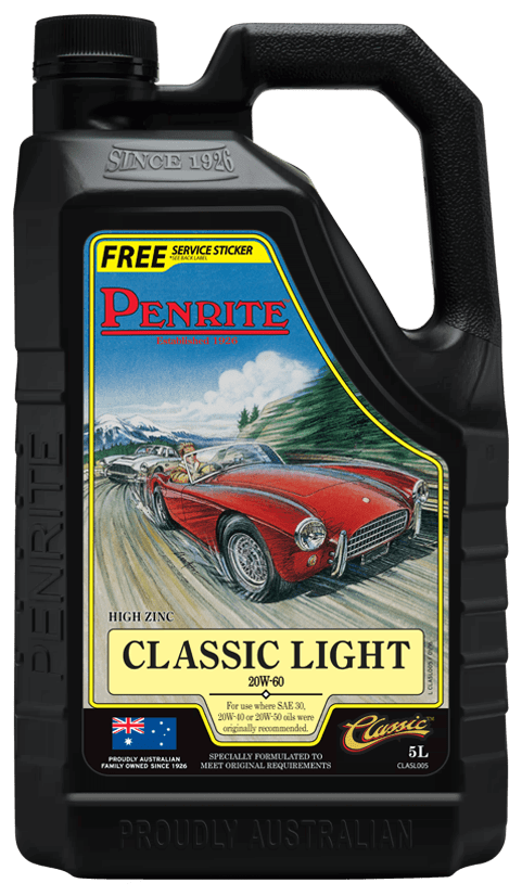 Penrite Oil- CLASSIC LIGHT 20W-60 (Mineral) - Engine Oils