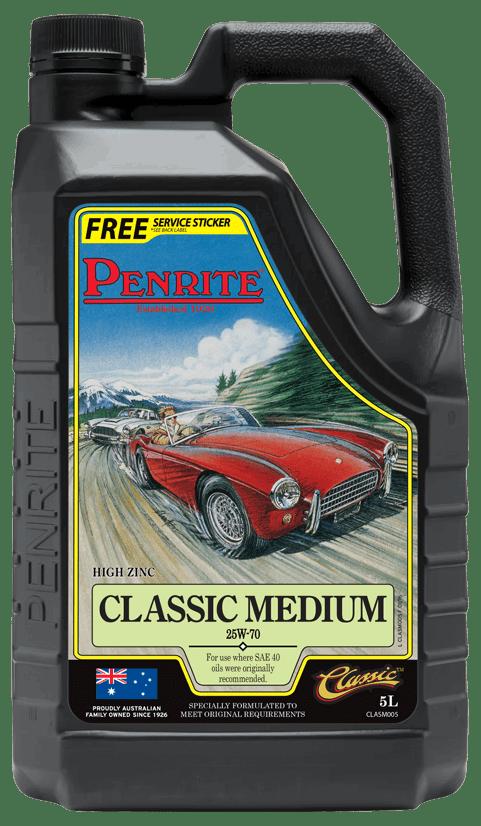 Penrite Oil- CLASSIC MEDIUM 25W-70 (Mineral) - Racing