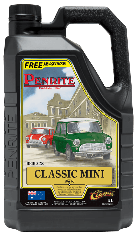 Penrite Oil- CLASSIC MINI 20W-50 (Mineral)  - Petrol / E10