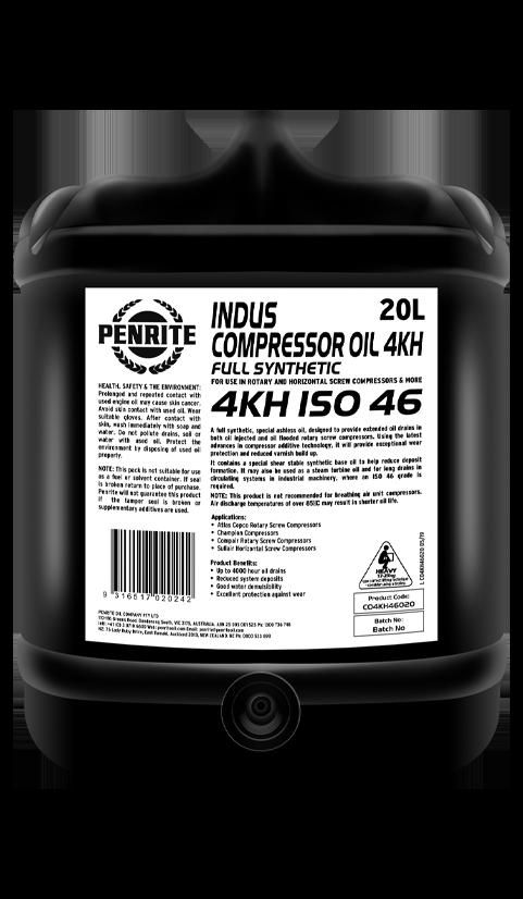 Penrite Oil- INDUS COMPRESSOR OIL 4KH ISO 46 - Compressor Oils