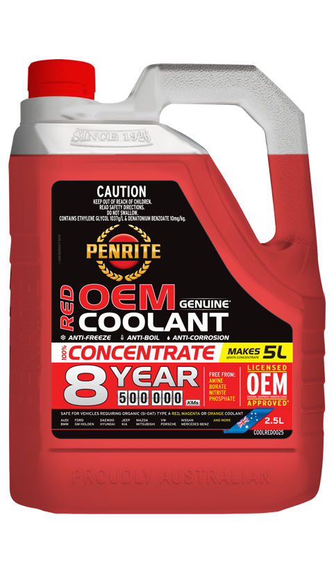 Penrite Oil - 8 YEAR 500,000KM RED CONCENTRATE - 2.5L