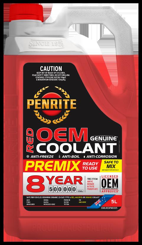 Penrite Oil- 8 YEAR 500,000KM RED PREMIX  - Anti-freeze & Coolants