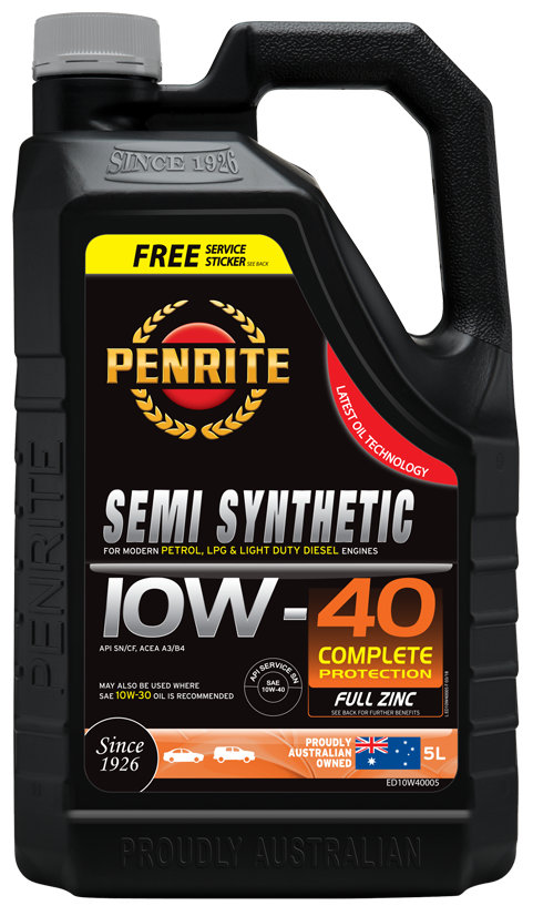 Penrite Oil- SEMI SYNTHETIC 10W-40 - LPG (Gas) / Dual Fuel