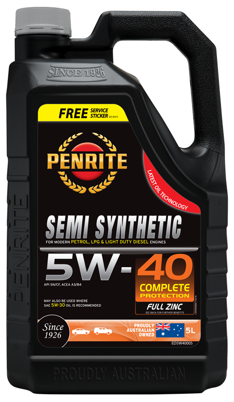 Penrite Oil- SEMI SYNTHETIC 5W-40 - LPG (Gas) / Dual Fuel