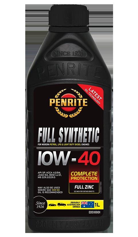 Penrite Oil - FULL SYNTHETIC 10W-40 - 1L