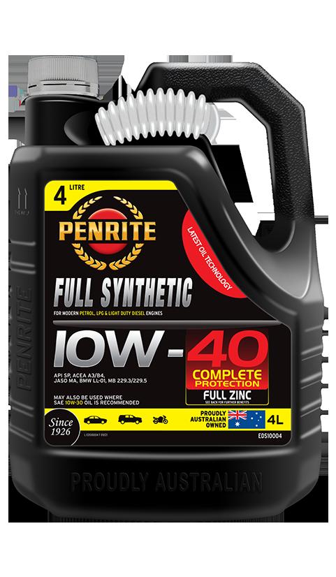 Penrite Oil - FULL SYNTHETIC 10W-40 - 4L