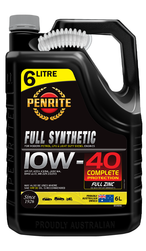 Penrite Oil- FULL SYNTHETIC 10W-40 - LPG (Gas) / Dual Fuel