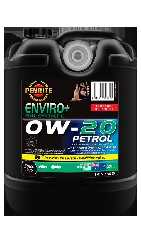 Penrite Oil - ENVIRO+ 0W-20 (FULL SYN.) - 20L