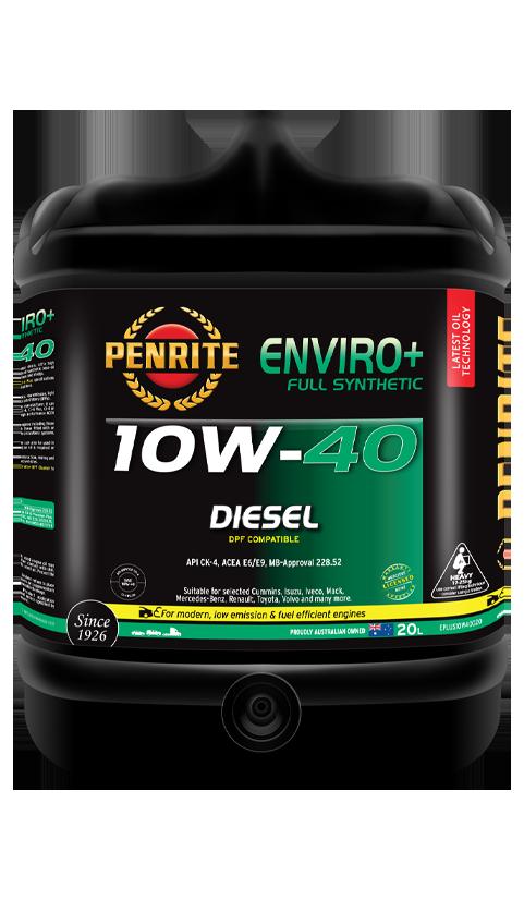 Penrite Oil - ENVIRO+ 10W-40 (FULL SYN.) - 20L