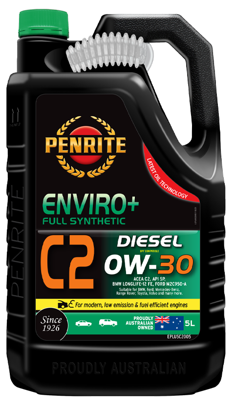 Penrite Oil- ENVIRO+ C2 0W-30 (FULL SYN.) - Full Synthetic Low - Mid SAPS