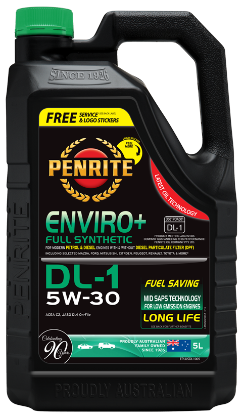Penrite Oil- ENVIRO+ DL-1 5W-30 (FULL SYN.) - Full Synthetic Low - Mid SAPS
