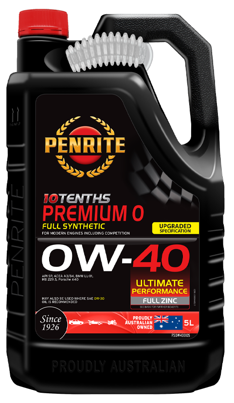 Penrite Oil- 10 TENTHS PREMIUM 0W-40 (Full Synthetic)  - Engine Oils