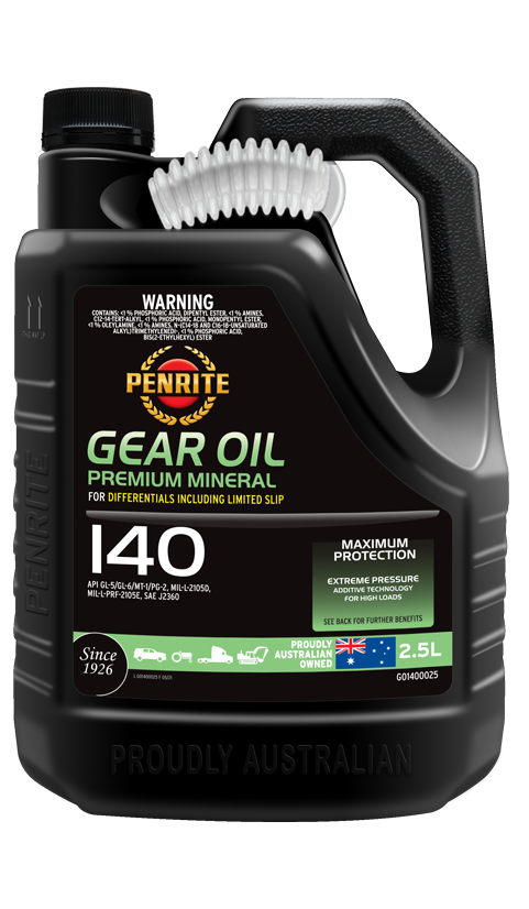 Penrite Oil- GEAR OIL 140 (Mineral) - Manual Transmission/Differential Gear Oils