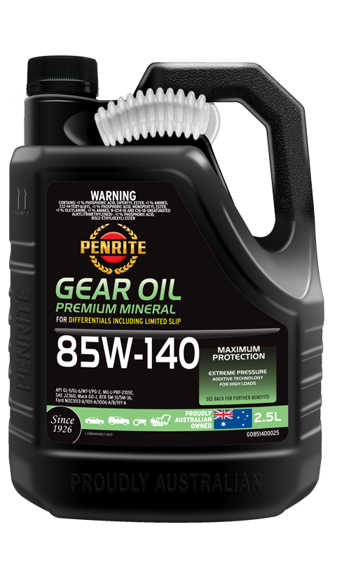 Penrite Oil- GEAR OIL 85W-140 (Mineral) - Manual Transmission/Differential Gear Oils