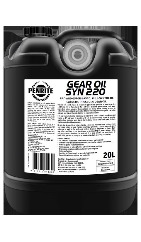 Penrite Oil- GEAR OIL SYN 220 - Gear Oils