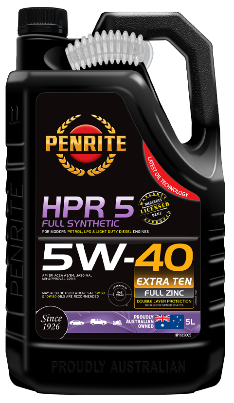 Penrite Oil- HPR 5 5W-40 (Full Synthetic) - LPG (Gas) / Dual Fuel