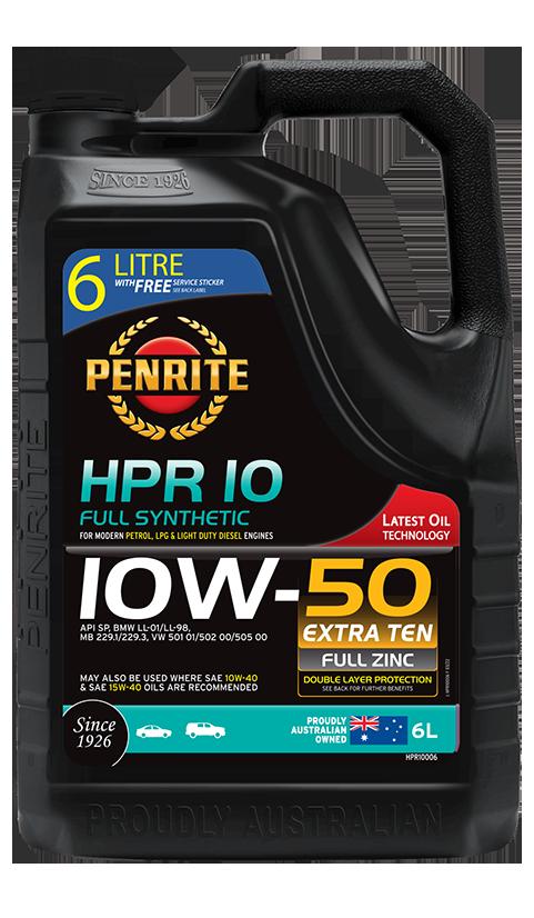 Penrite Oil - HPR 10 10W-50 (Full Synthetic) - 6L
