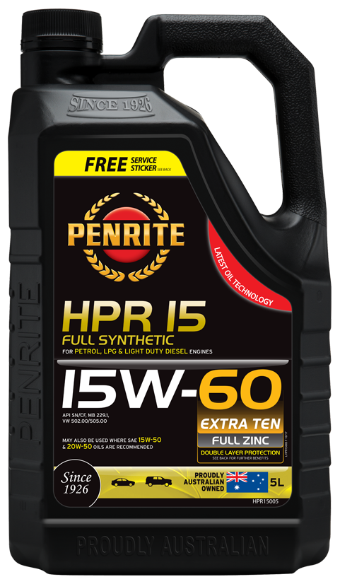 Penrite Oil- HPR 15 15W-60 (Full Synthetic) - LPG (Gas) / Dual Fuel