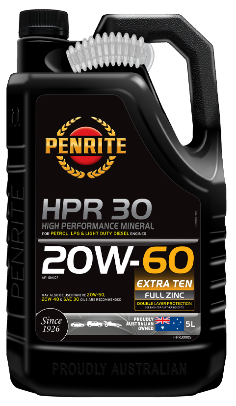 Penrite Oil- HPR 30 20W-60 (Mineral) - Petrol / E10