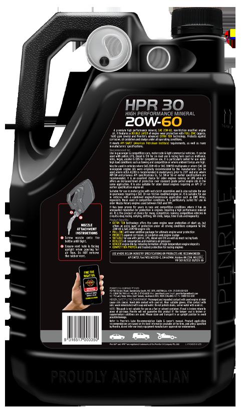 Penrite Oil - HPR 30 20W-60 (Mineral) - 5L