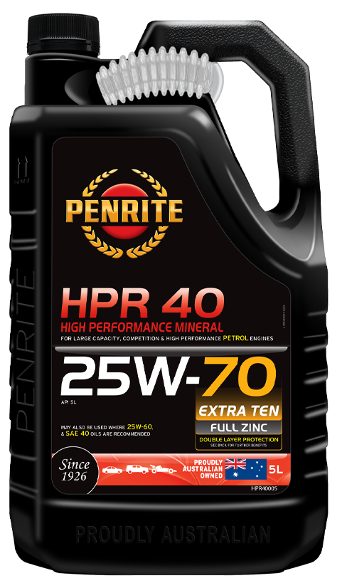 Penrite Oil- HPR 40 25W-70 (Mineral) - Petrol / E10