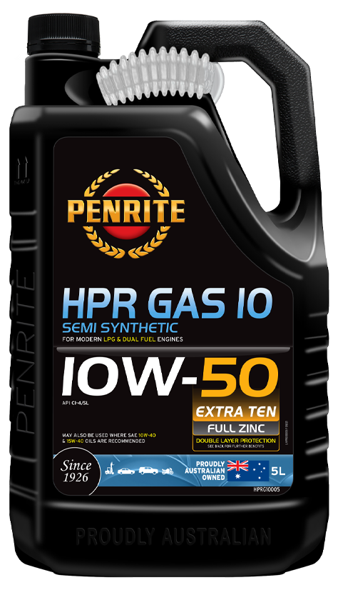 Penrite Oil- HPR GAS 10 10W-50 (Semi Syn.) - LPG (Gas) / Dual Fuel