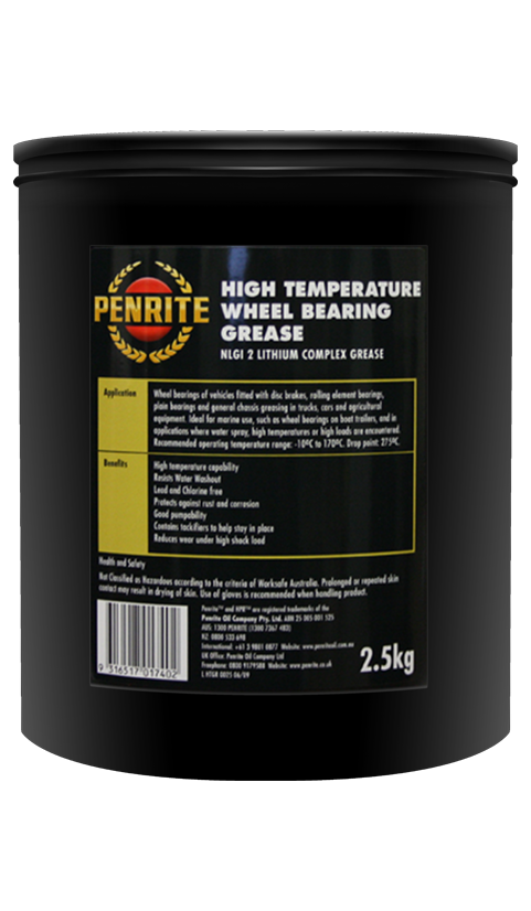Penrite Oil - HIGH TEMPERATURE WHEEL BEARING GREASE - 2.5Kg