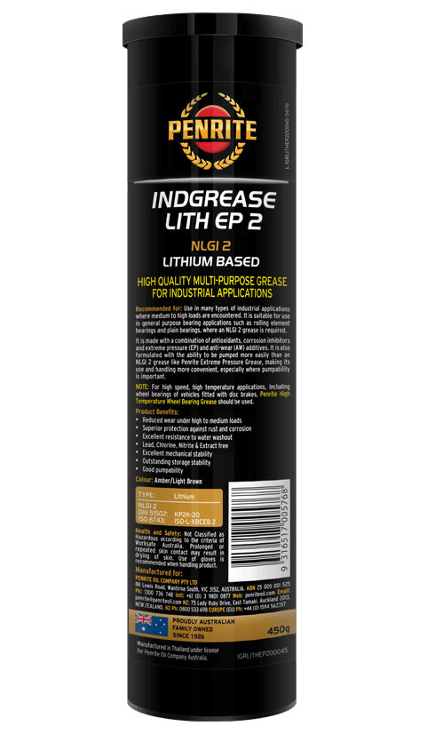 Penrite Oil- INDGREASE LITH EP2  - Greases