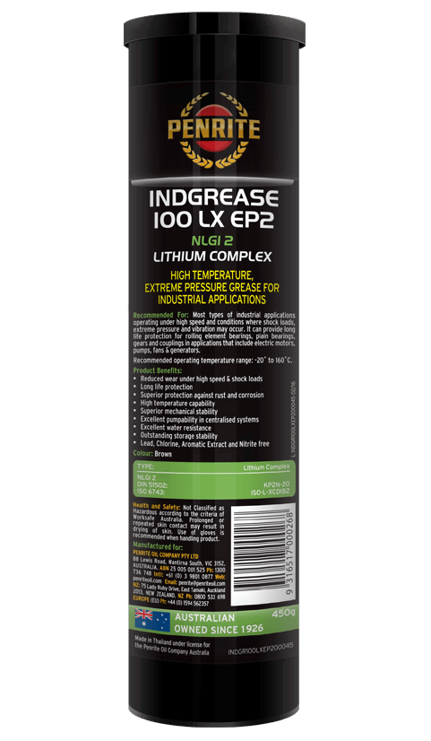 Penrite Oil- INDGREASE 100LX EP2 - Greases