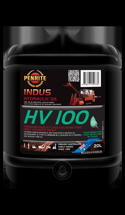 Penrite Oil- INDUS HV 100 (Zinc Free) - Hydraulic Fluids