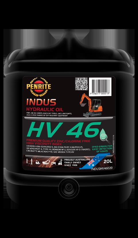 Penrite Oil- INDUS HV 46 (Zinc Free) - Hydraulic Fluids