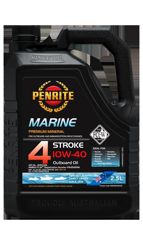 Penrite Oil - MARINE OUTBOARD 10W-40 (Semi Syn.) - 2.5L