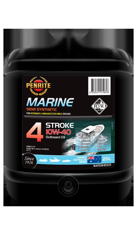 Penrite Oil - MARINE OUTBOARD 10W-40 (Semi Syn.) - 20L