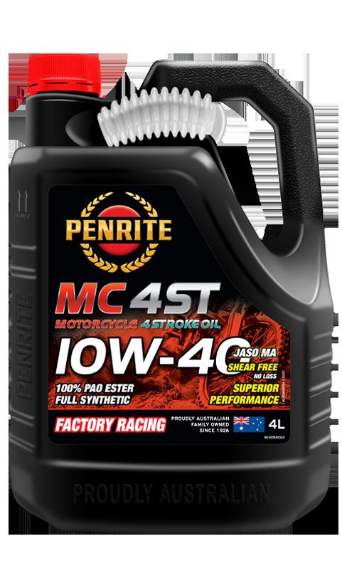 Penrite Oil- MC-4ST 10W-40 (PAO & ESTER)  - 4 Stroke Engine Oils