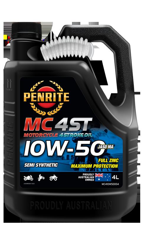 Penrite Oil- MC-4ST SEMI SYNTHETIC 10W-50 - 4 Stroke Engine Oils