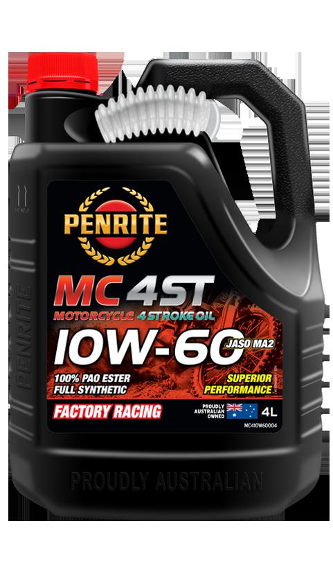 Penrite Oil- MC-4ST 10W-60 (PAO & ESTER)  - 4 Stroke Engine Oils