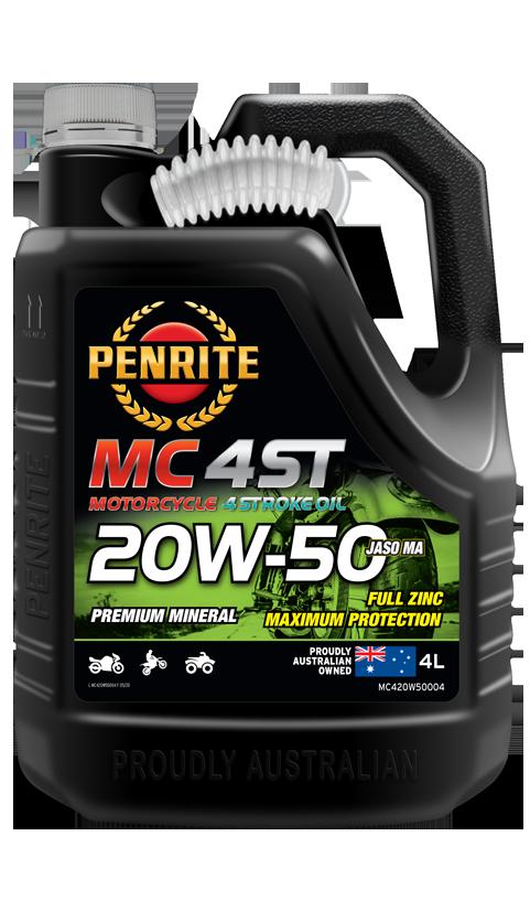 Penrite Oil- MC-4ST MINERAL 20W-50  - 4 Stroke Engine Oils