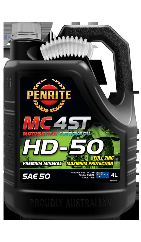 Penrite Oil- MC-4ST MINERAL HD 50 SAE 50 - 4 Stroke Engine Oils