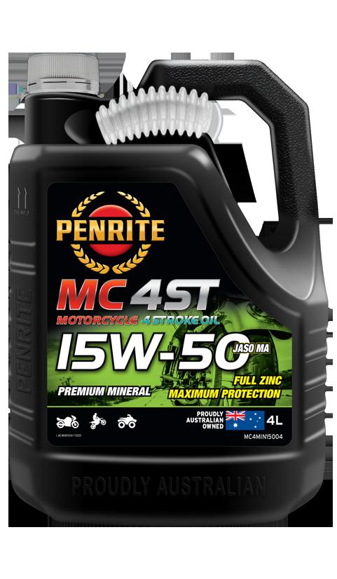 Penrite Oil- MC-4ST MINERAL 15W-50  - 4 Stroke Engine Oils