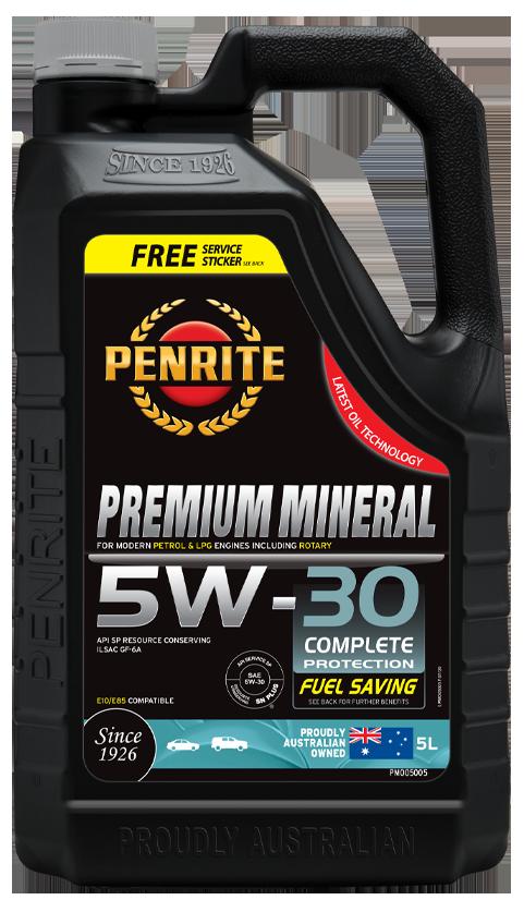 Penrite Oil- PREMIUM MINERAL 5W-30 - Petrol / E10