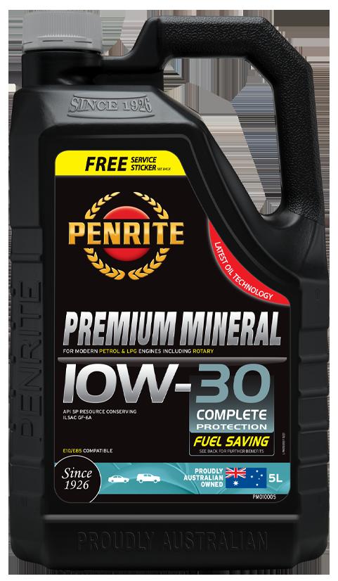Penrite Oil- PREMIUM MINERAL 10W-30 - Petrol / E10